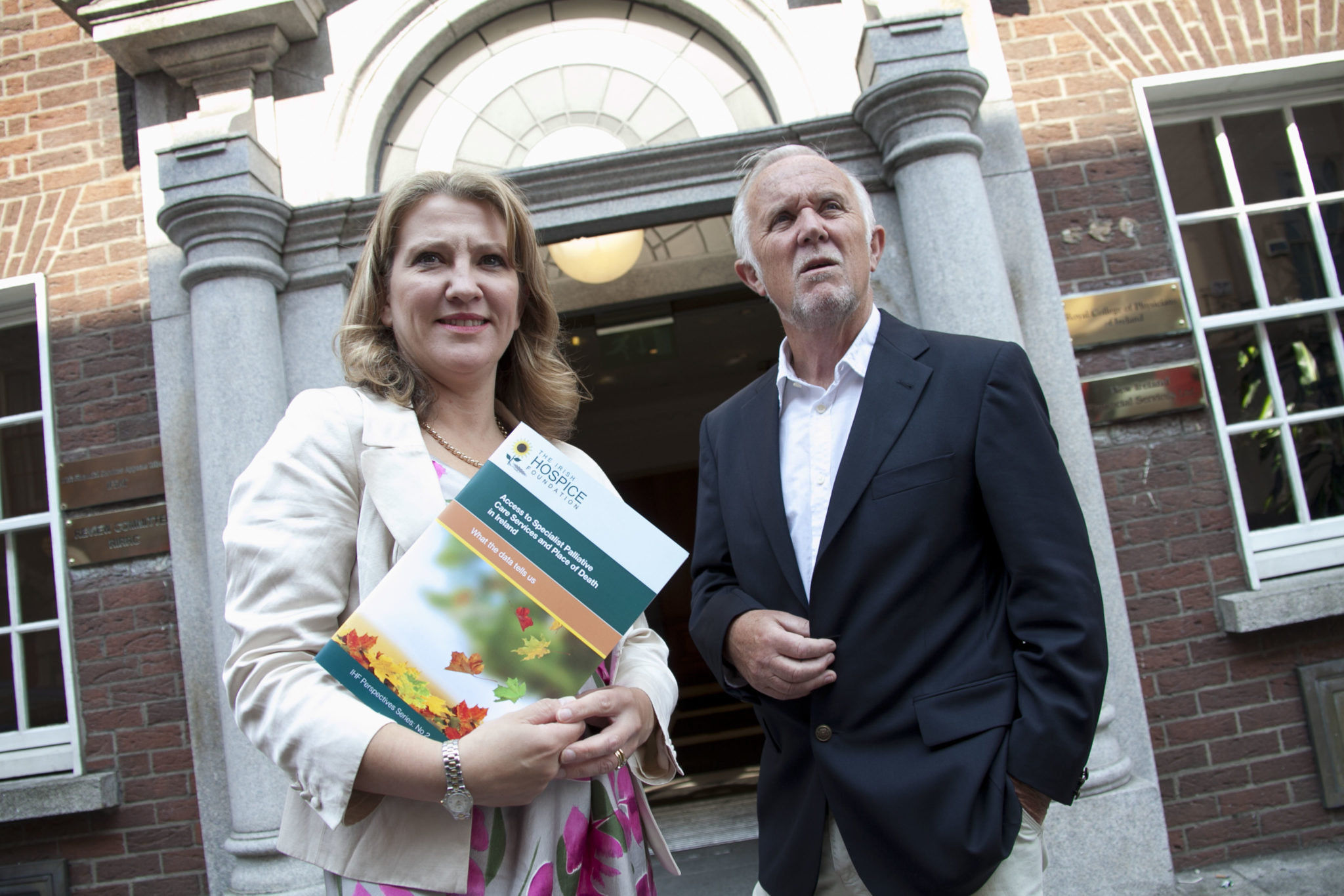Access to Specialist Palliative Care Services and Place of Death in Ireland - what the Data Tells Us. Sharon Foley CEO Irish Hospice Foundation (left) and Eugene Murray report author.