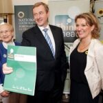 Mrs Justice Catherine McGuinness, An Taoiseach Enda Kenny and IHF CEO Sharon Foley at the the launch of Phase Two of Think Ahead