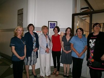 Helen Ely, CNS Palliative Care, Elaine Prendergast, General Manager Roscommon Hospital, Dr Dympna Waldron, Consultant in Palliative Medicine, Mary Lovegrove Hospice Friendly Hospitals, Dr Eileen Mannion, Consultant in Palliative Medicine, Geraldine Keane, CNS Palliative Care, Maura Loftus, Director of Nursing Roscommon Hospital.