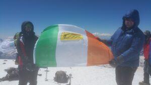 flag top of elbrus