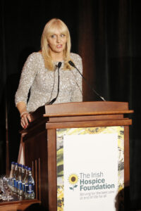 no fee if The Irish Hospice Foundation mentioned in caption Miriam O'Callaghan at The Irish Hospice Foundation Dr Mary Redmond gala dinner held at the InterContinental Hotel Ballsbridge-photo Kieran Harnett Dublin, October 21, 2016 -- The Irish Hospice Foundation (IHF) celebrated its 30 year anniversary with a gala dinner honouring its founder Dr Mary Redmond on Friday, 21 October. An Taoiseach Enda Kenny was guest of honour for the evening of celebration and remembrance at the 5* InterContinental Hotel in Dublin's Ballsbridge