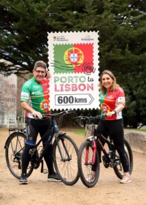 Repro Free: Monday 16th January 2017. Former cycling pro Paul Kimmage and his daughter Evelyn today called on cycling enthusiasts to join them and cycle for care on a 600km challenge in aid of The Irish Hospice Foundation this June. The duo, pictured in UCD today will be leading the way in the picturesque Porto to Lisbon event and pedalling for the IHF's Nurses for Night Care service. Picture Jason Clarke.