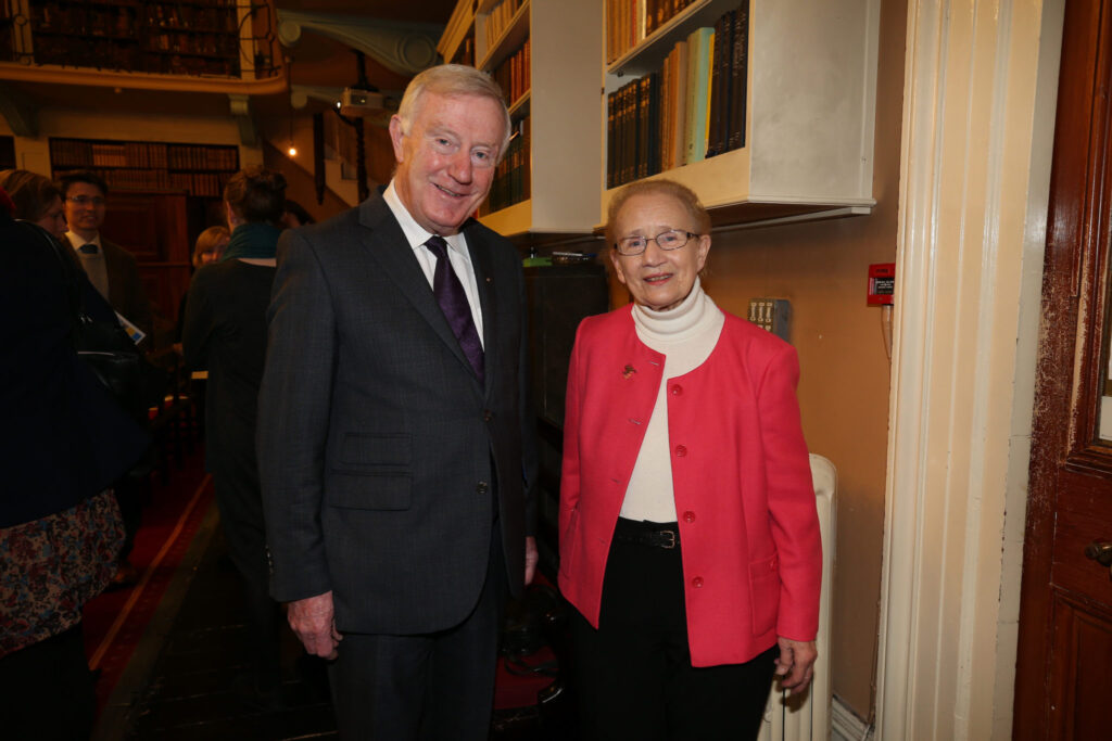 Denis Doherty IHF board member & Justice Catherine Mc Guinness