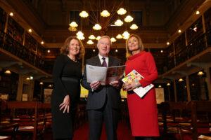 (LtoR) IHF Board Chair Jean McKiernan, Denis Doherty board member & broadcaster Mary Kennedy