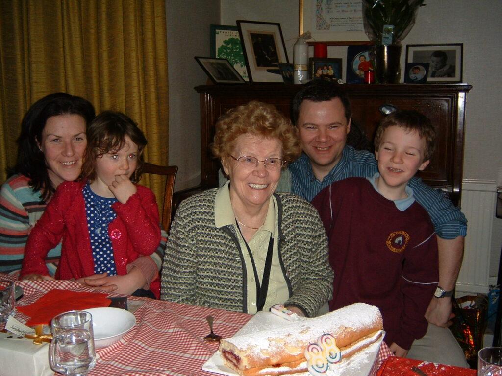 Mona O'Riordan with family