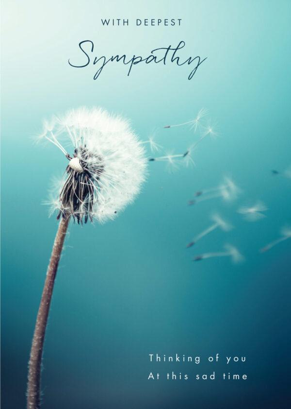Sympathy card dandelion