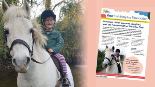 Your Irish Hospice Foundation newsletter summer July 2021 Brianna