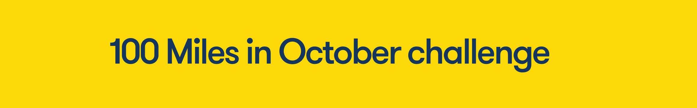 100miles in October challenge 2021